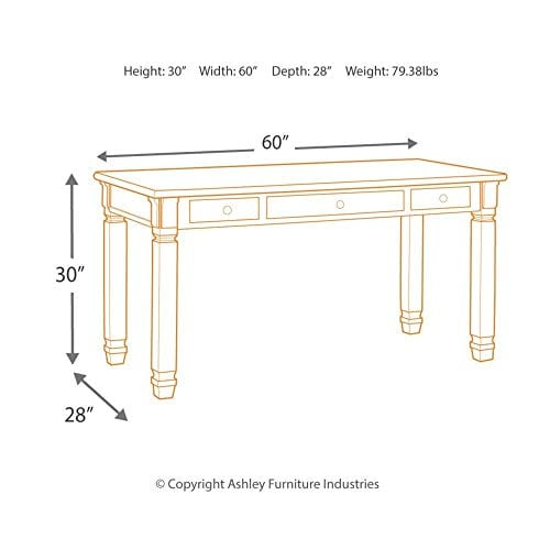 Ashley Furniture Signature Design Bolanburg Home Office Desk Casual 0 3