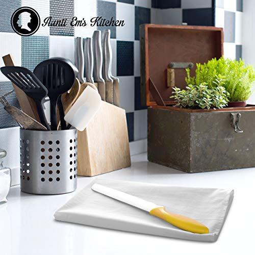 Aunti Ems Kitchen Vintage Flour Sack Kitchen Dish Towels Commercial Restaurant Grade Weave Cloth 100 Natural Cotton 27 X 27 Bakers Dozen Set Of 13 White 0 3