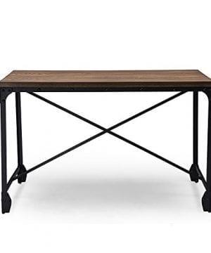 Baxton Studio Wholesale Interiors Greyson Vintage Industrial Home Office Wood Desk Antique Bronze 0 0 300x360