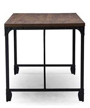 Baxton Studio Wholesale Interiors Greyson Vintage Industrial Home Office Wood Desk Antique Bronze 0 2 300x360