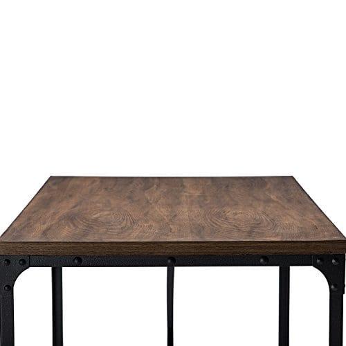 Baxton Studio Wholesale Interiors Greyson Vintage Industrial Home Office Wood Desk Antique Bronze 0 3