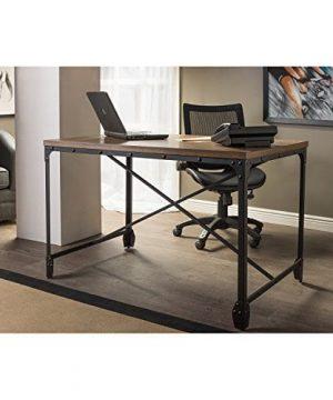 Baxton Studio Wholesale Interiors Greyson Vintage Industrial Home Office Wood Desk Antique Bronze 0 300x360