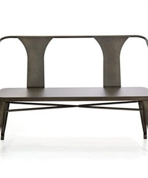 Best Choice Products 2 Person Industrial Vintage Metal Bench For Indoor And Outdoor Espresso 0 0 300x360