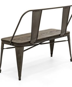 Best Choice Products Mid Century Industrial Metal Dining Bench W