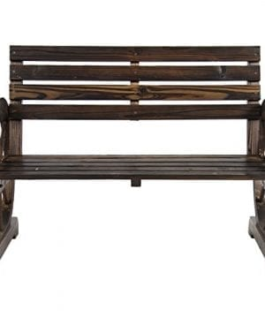 Best Choice Products Patio Garden Wooden Wagon Wheel Bench Rustic Wood Design Outdoor Furniture 0 1 300x360