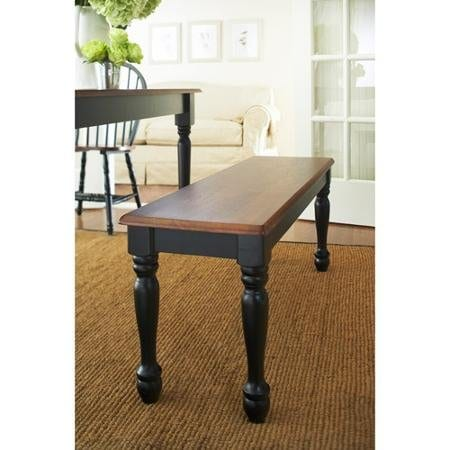 Better Homes And Gardens Autumn Lane Farmhouse Bench Black And Oak 0 1