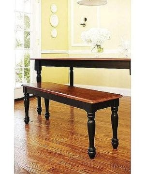 Better Homes And Gardens Autumn Lane Farmhouse Bench Black And Oak 0 300x360