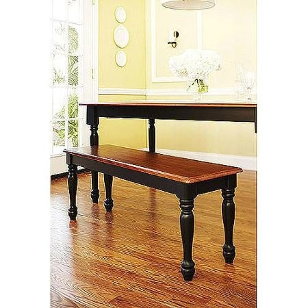 Better Homes And Gardens Autumn Lane Farmhouse Bench Black And Oak 0