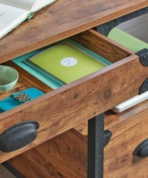 Better Homes And Gardens Rustic Country Desk Weathered Pine Finish 0 1 300x360
