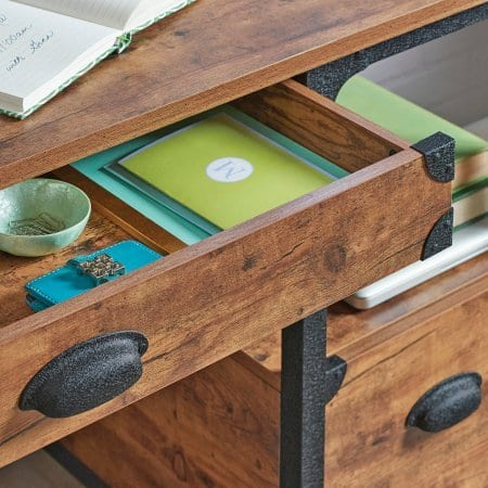 Better Homes And Gardens Rustic Country Desk Weathered Pine Finish 0 1