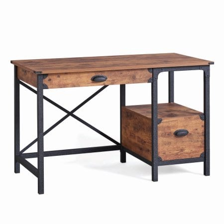 Better Homes And Gardens Rustic Country Desk Weathered Pine Finish 0 2