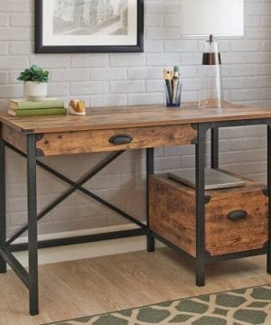 Better Homes And Gardens Rustic Country Desk Weathered Pine Finish 0 300x360