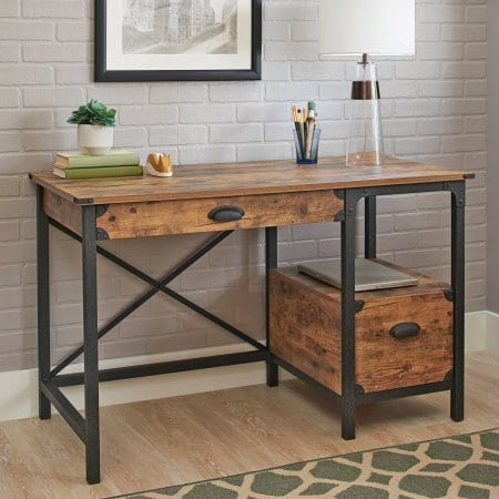 Better Homes And Gardens Rustic Country Desk Weathered Pine Finish 0