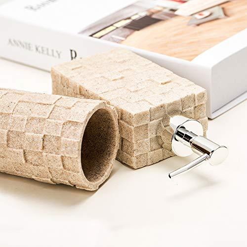 Bigger Decor Advanced Resin Simple Modern Bathroom Accessory Set Matte Texture Full Set Includes 1 Tumbler 1 Toothbrush Holder 1 Soap Dish And 1 Soap Dispenser 0 1