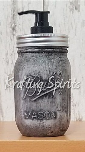 Black Ash Mason Jar Bathroom Set 0 2