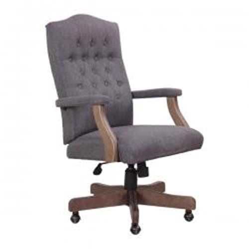 Surprising Boss Office Products Executive Commercial Swivel Chair Slate Grey Andrewgaddart Wooden Chair Designs For Living Room Andrewgaddartcom