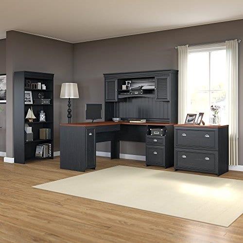 Bush Furniture Fairview L Shaped Desk With Hutch 0 0