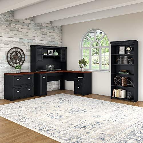 Bush Furniture Fairview L Shaped Desk With Hutch 0 1
