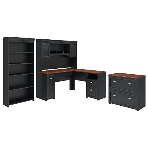 Bush Furniture Fairview L Shaped Desk With Hutch 0