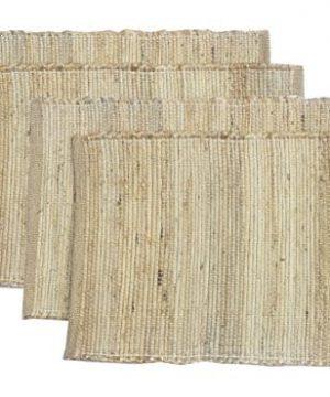 Chardin Home Eco Friendly Natural Jute Hemp Placemats Set Of 4 Mats Size 13 X 19 0 300x360