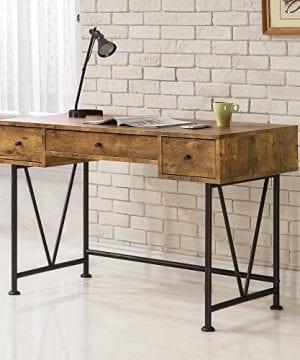 Coaster Furniture Antique Nutmeg Writing Desk With V Shaped Legs 0 300x360
