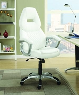 Coaster Furniture Office Executive Chair White 0 300x360