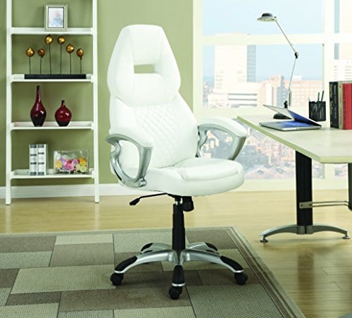 Coaster Furniture Office Executive Chair White 0