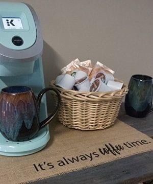 Coffee Maker Mat Burlap Placemat For Your Keurig 0 1 300x360