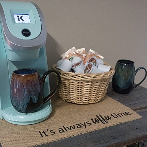 Coffee Maker Mat Burlap Placemat For Your Keurig 0 1