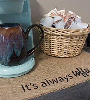 Coffee Maker Mat Burlap Placemat For Your Keurig 0 3 300x333