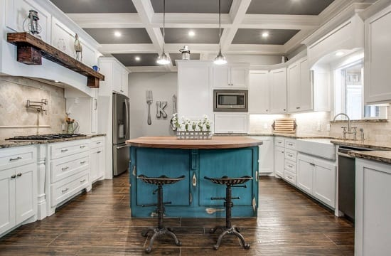 Coffered Kitchen by Swanson Renovations LLC