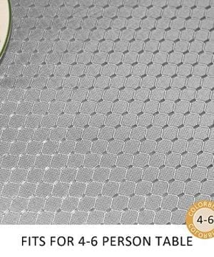 ColorBird Elegant Waffle Jacquard Tablecloth Waterproof Table Cover For Kitchen Dinning Tabletop Decor 0 0 300x360