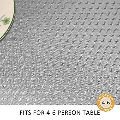 ColorBird Elegant Waffle Jacquard Tablecloth Waterproof Table Cover For Kitchen Dinning Tabletop Decor 0 0