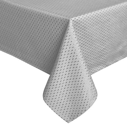 ColorBird Elegant Waffle Jacquard Tablecloth Waterproof Table Cover For Kitchen Dinning Tabletop Decor 0