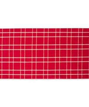 DII Farmhouse Plaid Tablecloth 100 Cotton With 12 Hem 0 1 300x360