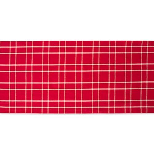 DII Farmhouse Plaid Tablecloth 100 Cotton With 12 Hem 0 1