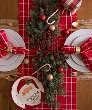 DII Farmhouse Plaid Tablecloth 100 Cotton With 12 Hem 0 2 300x360