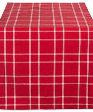 DII Farmhouse Plaid Tablecloth 100 Cotton With 12 Hem 0 300x360
