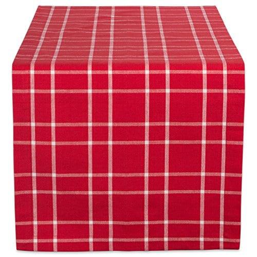 DII Farmhouse Plaid Tablecloth 100 Cotton With 12 Hem 0