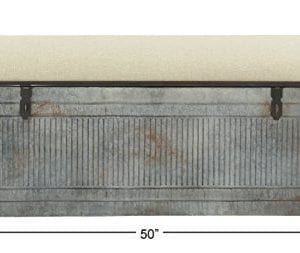 Deco 79 60966 Metal And Fabric Storage Bench Kamia 4 Tier Shoe Rack Rustic Gray 0 2 300x253