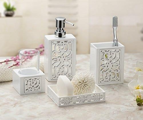 Mirror Janette Bathroom Accessories Set