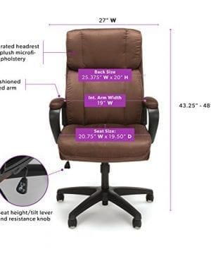 Essentials Executive Chair Mid Back Office Computer Chair 0 0 300x360