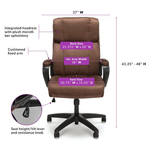 Essentials Executive Chair Mid Back Office Computer Chair 0 0