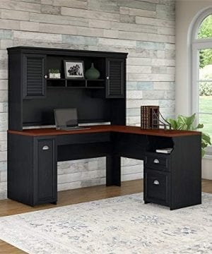 Fairview L Shaped Desk With Hutch In Antique Black 0 0 300x360