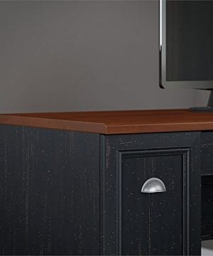 Fairview L Shaped Desk With Hutch In Antique Black 0 2 300x360