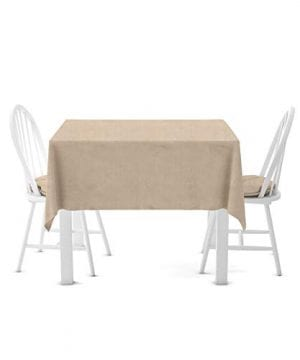 Firefly Craft Rustic Burlap Square Table Cloth 60 Inches By 60 Inches 0 300x360