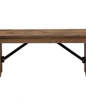 Flash Furniture HERCULES Series 40 X 12 Antique Rustic Solid Pine Folding Farm Bench 0 0 300x360