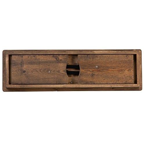 Flash Furniture HERCULES Series 40 X 12 Antique Rustic Solid Pine Folding Farm Bench 0 1