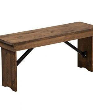Flash Furniture HERCULES Series 40 X 12 Antique Rustic Solid Pine Folding Farm Bench 0 300x360