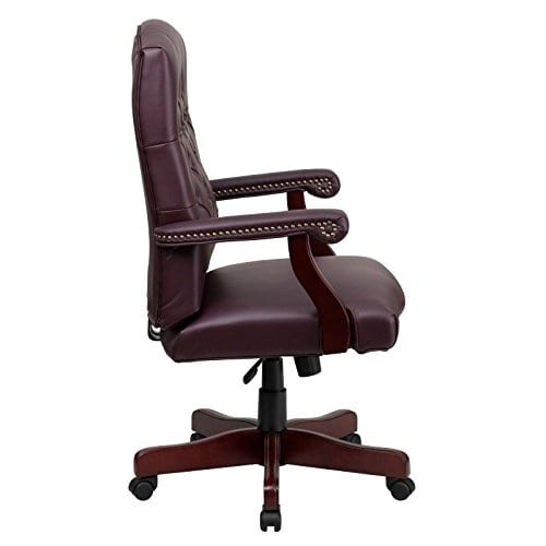 Flash Furniture Martha Washington Executive Swivel Chair With Arms 0 0